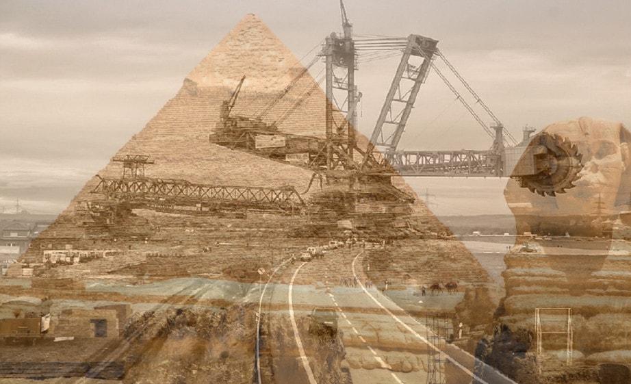 Bagger 288 в сравнении с пирамидой Хеопса