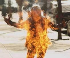 Миф о самовозгорании.