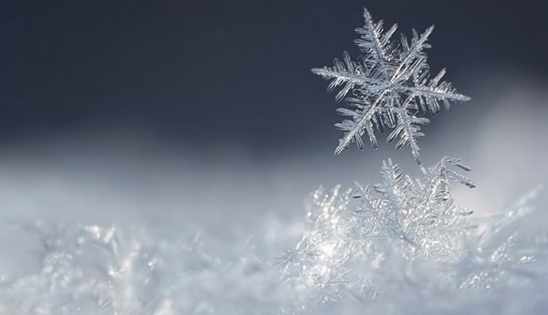 Снег и снежинка