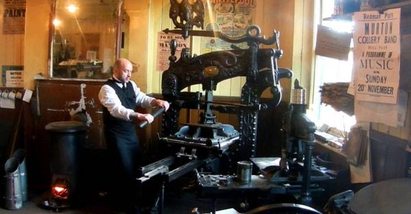 Древний печатный станок