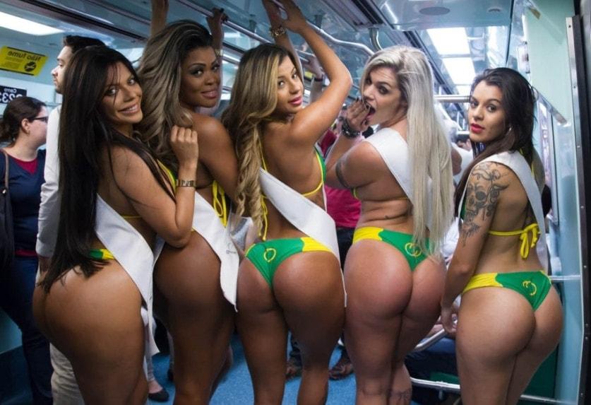 Бразильские девушки славятся своими попами