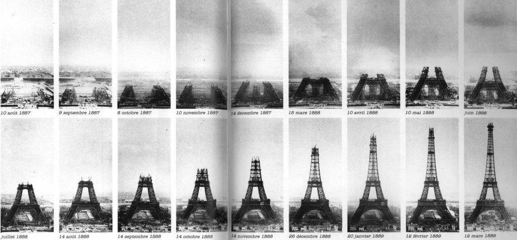 Процесс строительства Эйфелевой башни