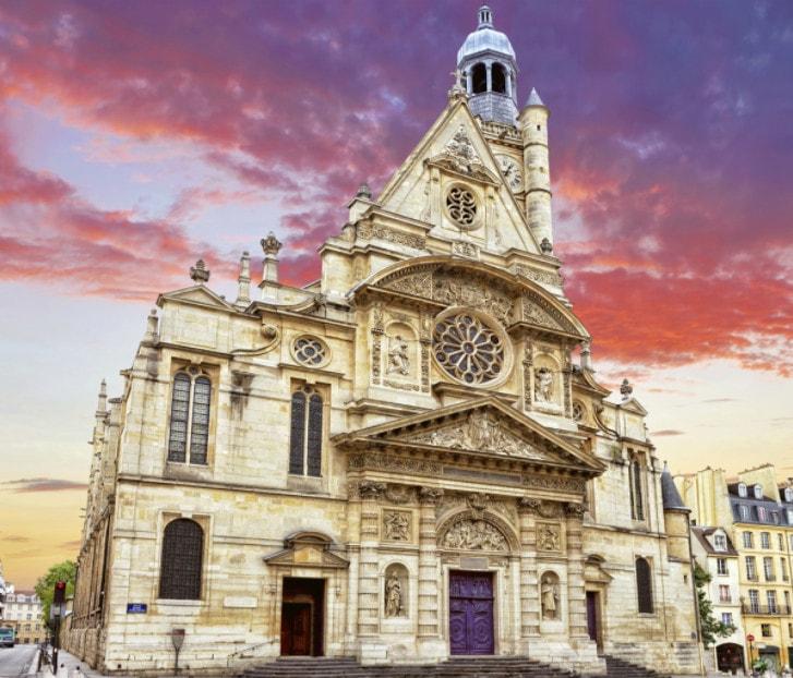 Церковь Сен-Этьен-дю-Мон, где похоронен Блез Паскаль